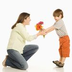 Son Giving Mother Flowers 2682768