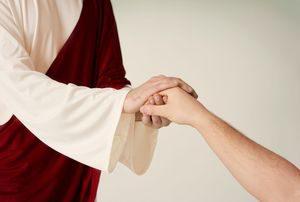 jesus hand holding